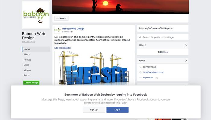 Pagina de business facebook